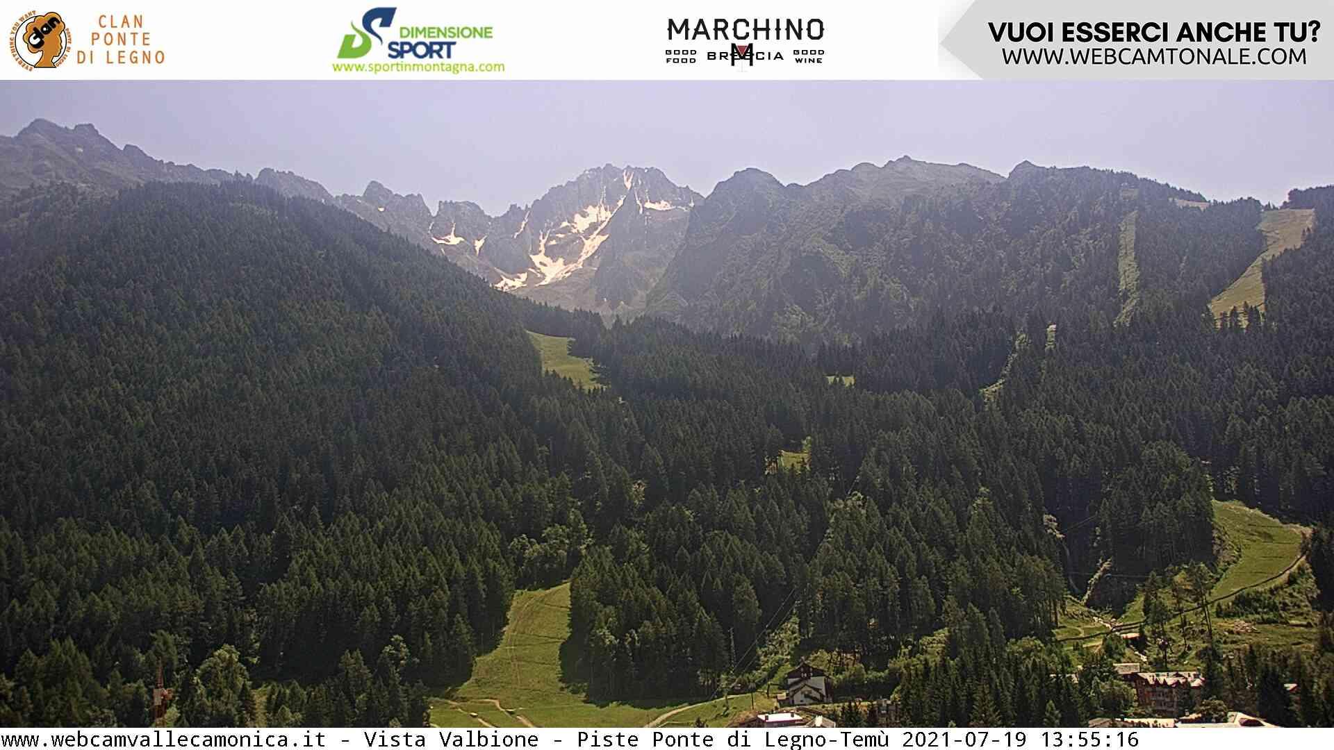 Ponte di Legno webcam - Valbione slope